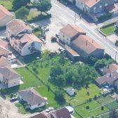 Vue du ciel du village de Champenoux
