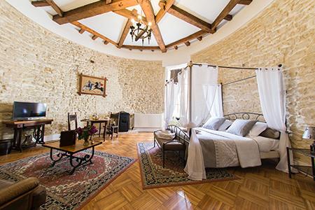 Photo d'une chambre ambiance médiévale