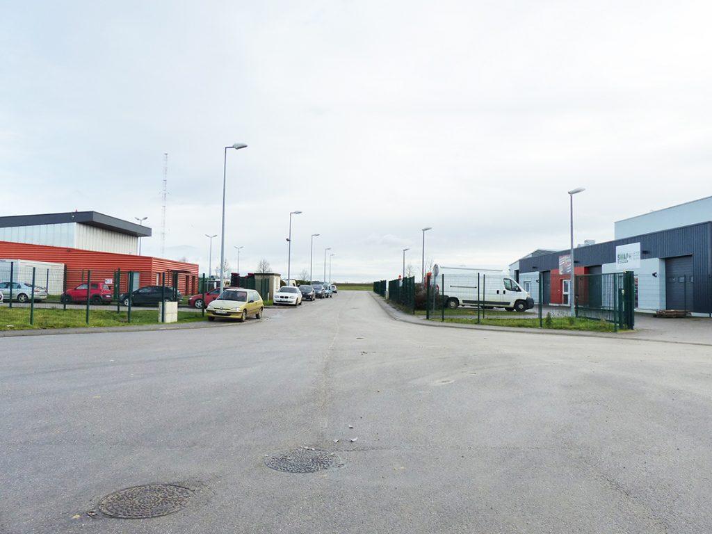 Photo de la zone d'activités commerciales à Nomeny