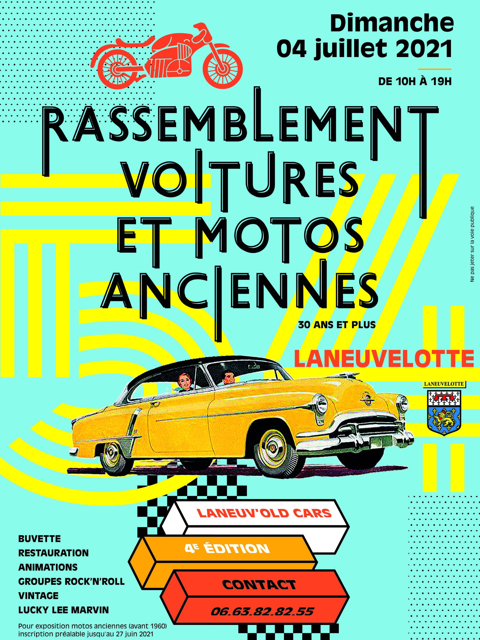 Affiche de l'évènement Grand Rassemblement de voitures et motos anciennes