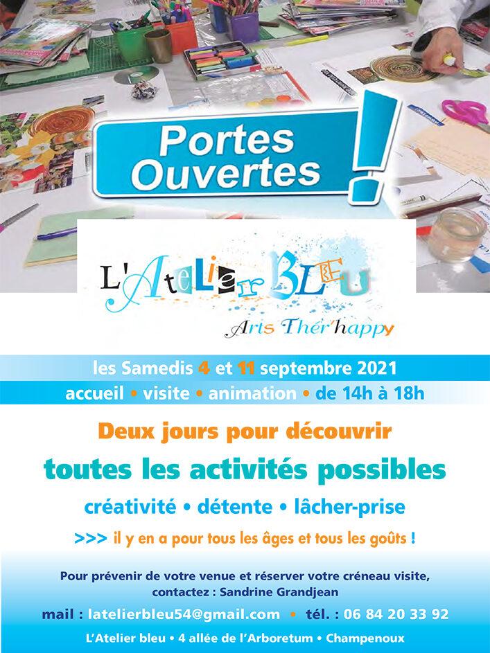 Affiche de l'évènement Les Portes Z'ouvertes à l'Atelier Bleu : vive la rentrée kré'aktive !