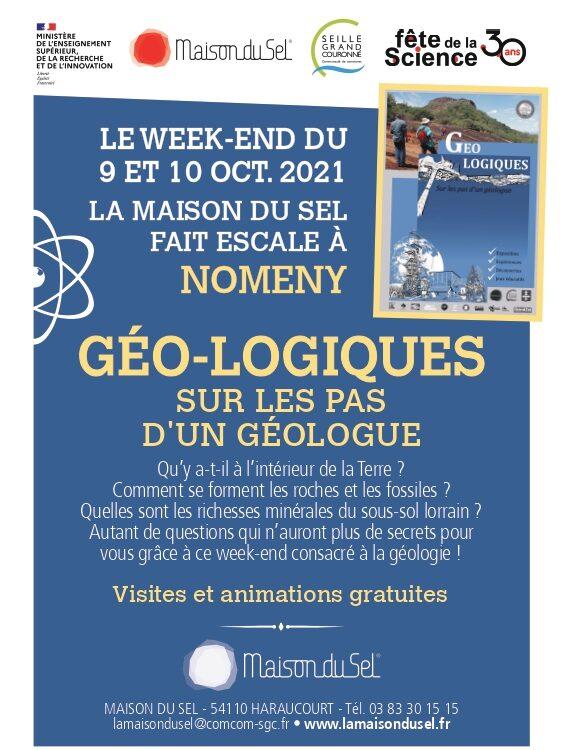 Affiche de l'évènement Géo-logiques. Sur les pas d'un géologue
