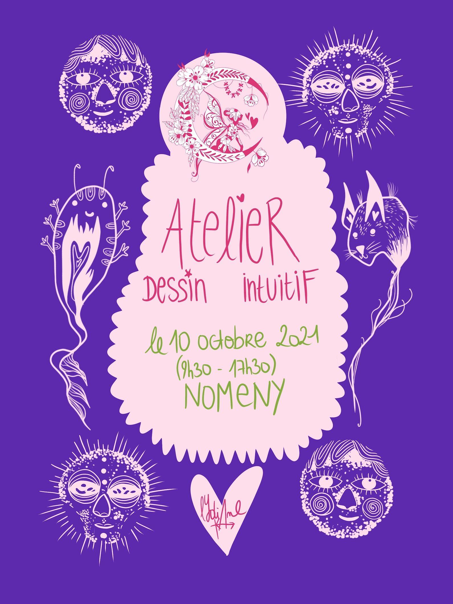 Affiche de l'évènement Atelier Dessin Intuitif